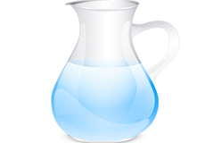 Link toClear glass bottle vector