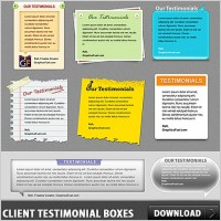 Link toClient testimonial boxes free psd