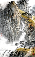 Link toCliff waterfall painting psd
