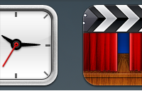 Link toClock and movie ios icons psd