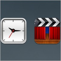 Link toClock and movie ios icons
