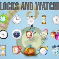 Link toClocks and watches icon set