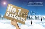 Link toCloud business concept psd