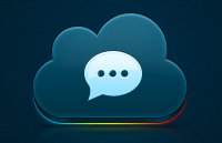 Link toCloud icon psd