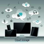 Link toCloud storage design elements vector 03