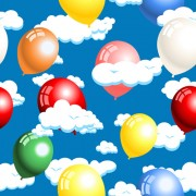 Link toCloud with balloon seamless pattern vector free