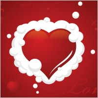 Link toClouded heart vector