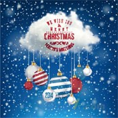 Link toClouds christmas ball vector