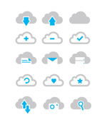 Link toClouds icons vector