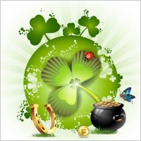 Link toClover beautiful background 02 vector