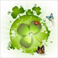 Link toClover beautiful background 04 vector