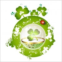 Link toClover beautiful background 05 vector