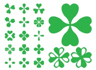 Link toClover leaves icons vector free