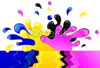 Link toCmyk color paint vector
