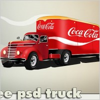 Link toCoca cola truck free psd