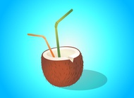 Link toCoconut drink illustration vector free