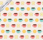 Link toCoffee and toast background vector