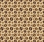 Link toCoffee bean seamless background vector