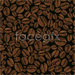 Link toCoffee beans background vector