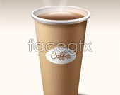 Coffee cup design psd