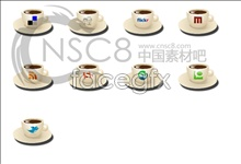 Link toCoffee cup desktop icons