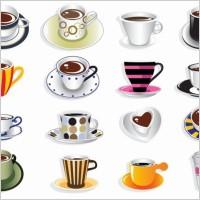 Link toCoffee cup vector set