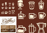 Coffee logo icon vector