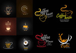 Coffee mugs and creative logo vector
