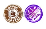 Link toCoffee music patterns vector