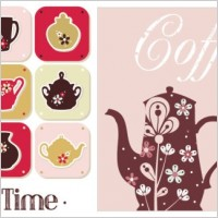 Link toCoffee pot pattern vector