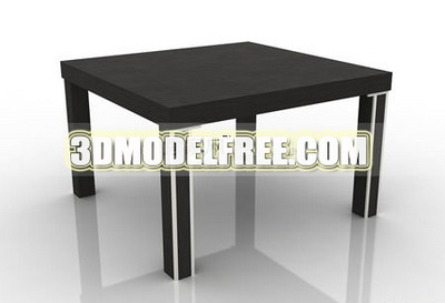 Link toCoffee table square table dresser solid wood furniture, wooden table with a round-table table 3d model of
