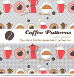 Link toCoffee theme illustrations vector