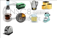 Coffee tools desktop icons