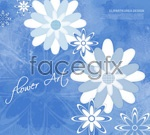 Link toCollage flowers background psd