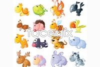 Link toCollection of cute cartoon animals vector