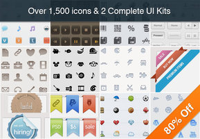 Link toCollection of over 1,500 icons and 2 ui