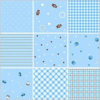 Link toCollection of seamless plaid patterns vector background