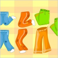 Link toCollection of vector cartoon pants