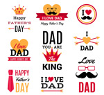 Link toColor a father's day labels vector