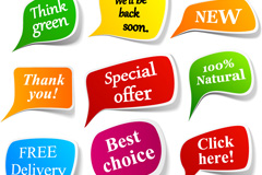 Link toColor applied stickers vector