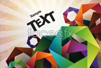 Link toColor art origami background vector