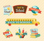 Link toColor back to school labels vector