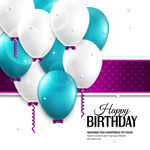 Link toColor background balloon birthday vector