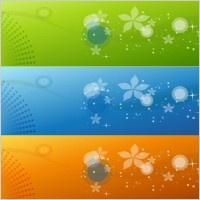 Link toColor banners vector