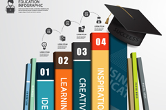 Link toColor book learning infographic vector