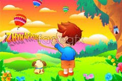 Link toColor cartoon child children kid stuff vector