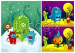 Link toColor cartoon illustration vector