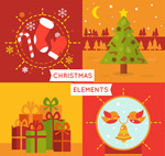 Link toColor christmas cards vector