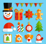 Color christmas elements vector
