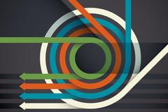 Link toColor circle arrow background vector